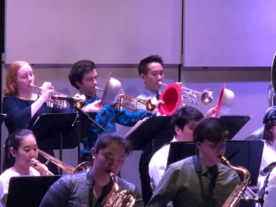 Jazz Band plays at NB Library