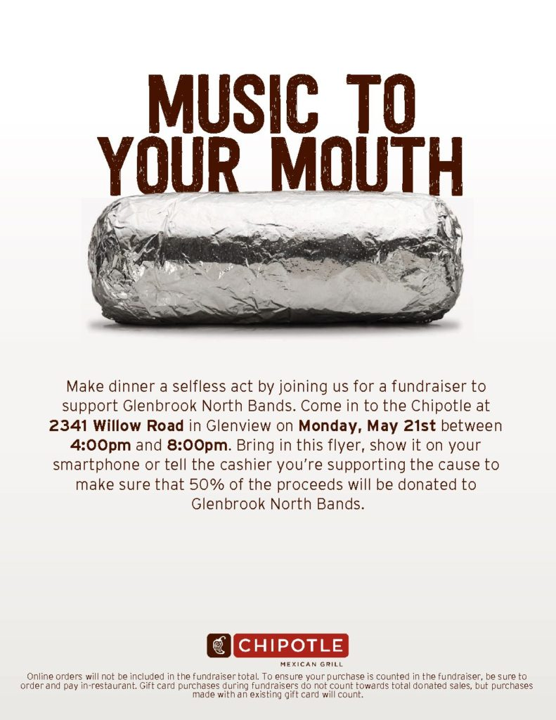 Chipotle Fundraiser 5/21/18
